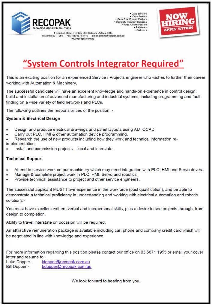 SYSTEM CONTROLS INTEGRATOR
